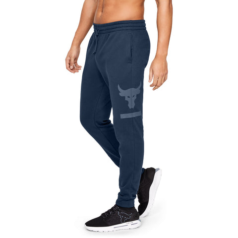 Under Armour Mens Project Rock Terry Jogger- Navy