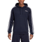 Adidas Mens Essentials 3 Stripe P/O Hoody - Navy