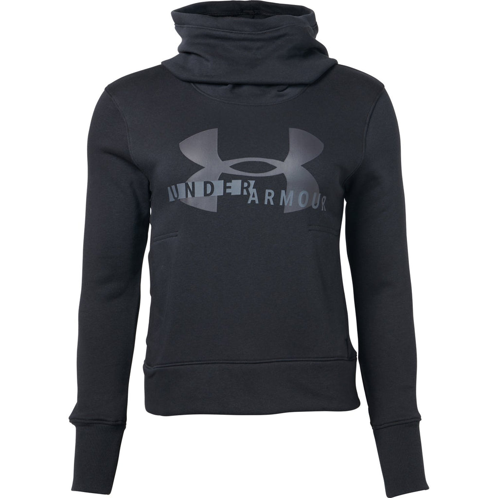 Under Armour Womens Sportstyle Logo Hoody- Black