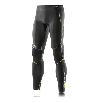 Skins Mens A400 Long Tights- Black/Yellow