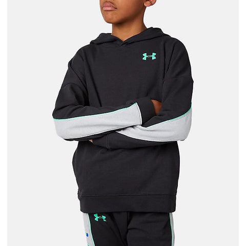 Under Armour Kids Rival Terry Hoodie - Black/Grey