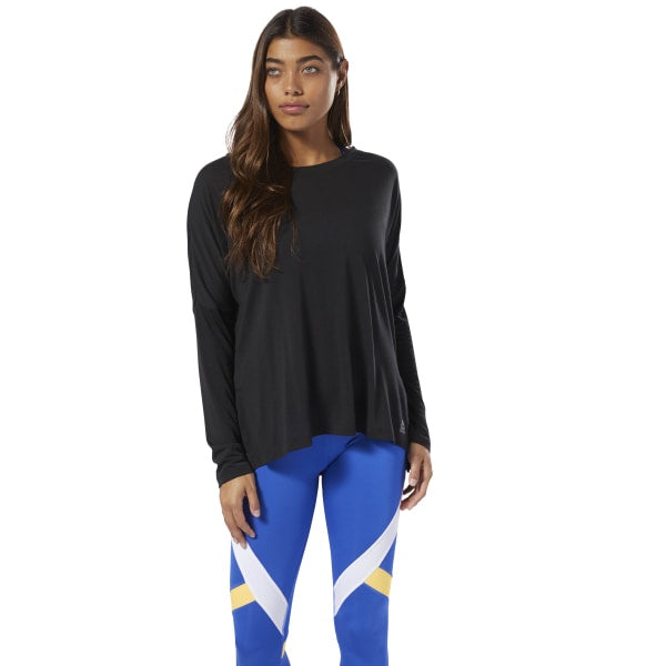 Reebok Womens WOR Supremium Long Sleeve Tee