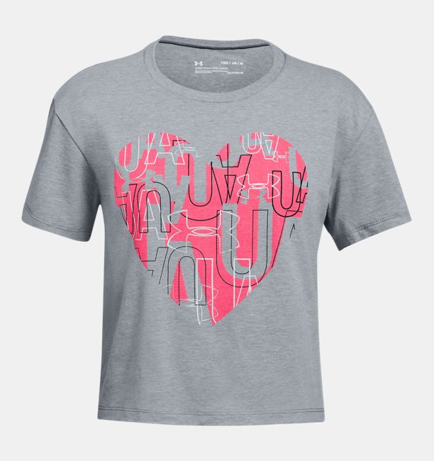 Under Armour Girls Hearts Logo Tee