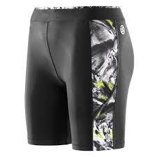 Skins Womens A200 Black Acid Print Shorts
