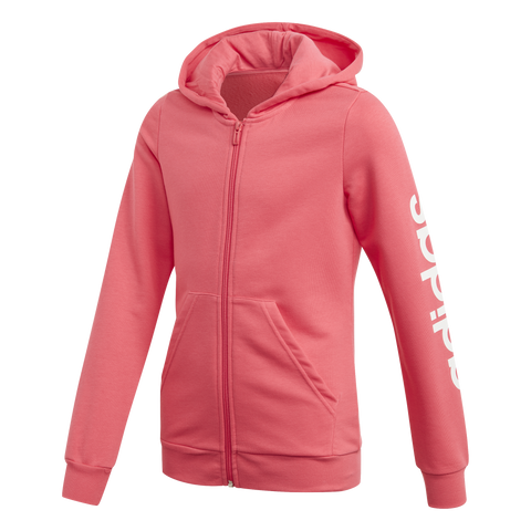 Adidas Girls Essentials Linear Full Zip Hoodie