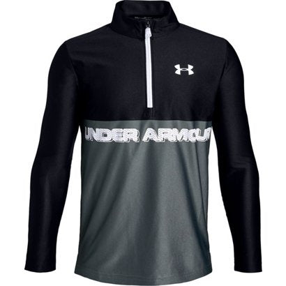 Under Armour Boys Tech 1/2 Zip  Top-Black