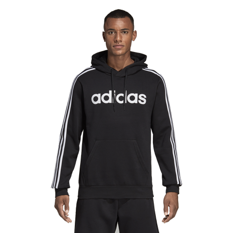 Adidas Mens Essential 3 Stripe Fleece Hoody