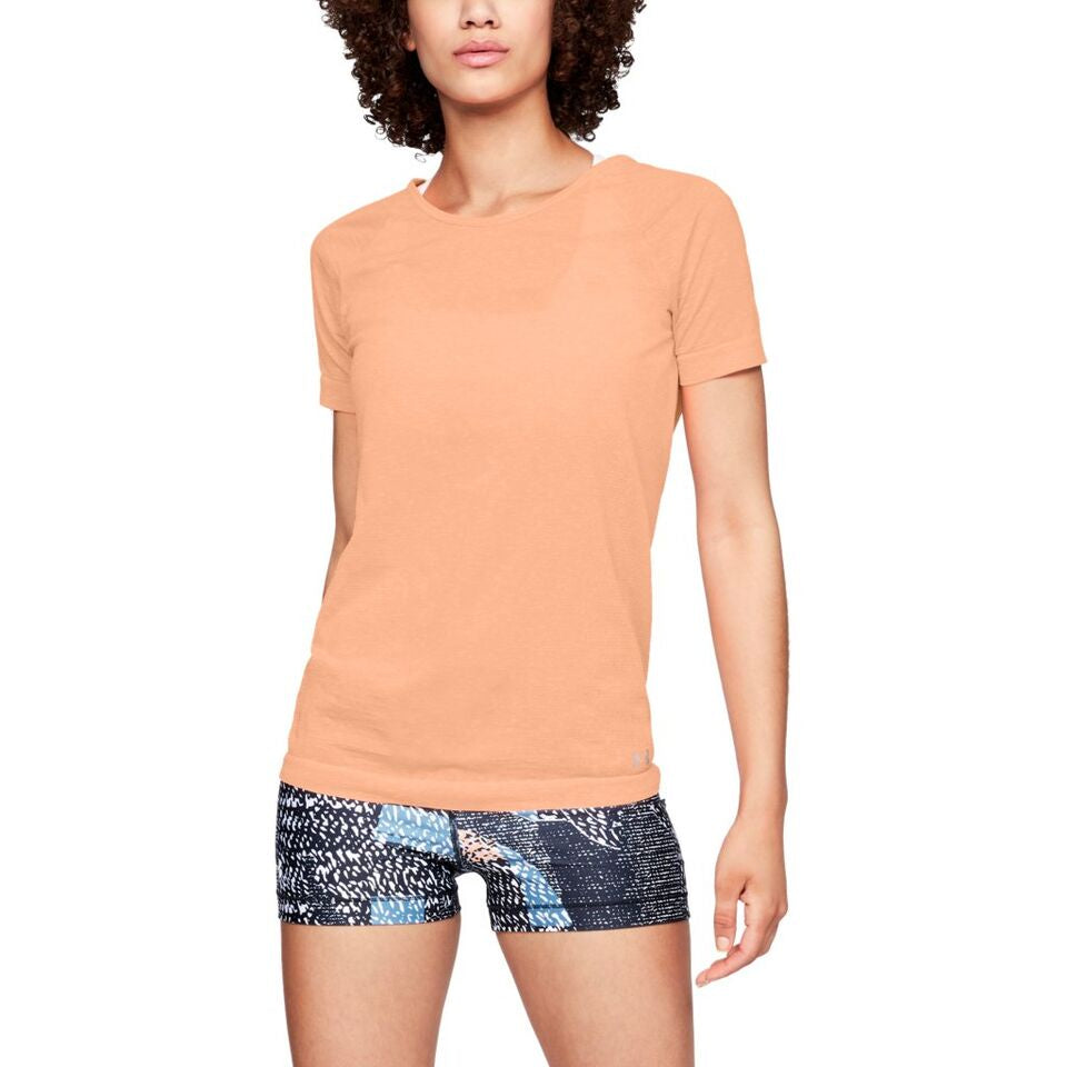 Under Armour Womens Threadborne Spacedye Tee- Peach
