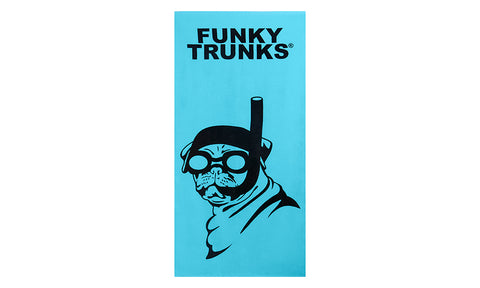 Funky Trunks Towel - Snorkel Pug