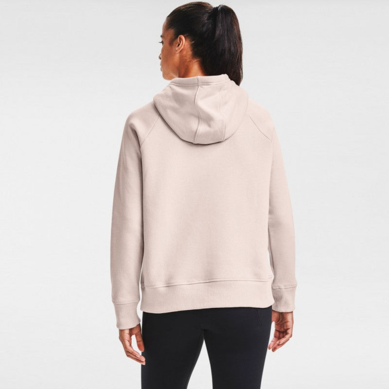 Under Armour Womens Rival Fleece Hoody- Desert Rose