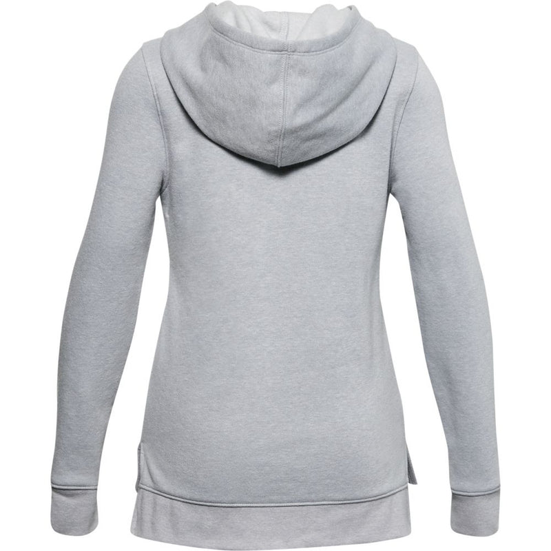 Under Armour Girls Rival Fleece Hoody- Mod Gray