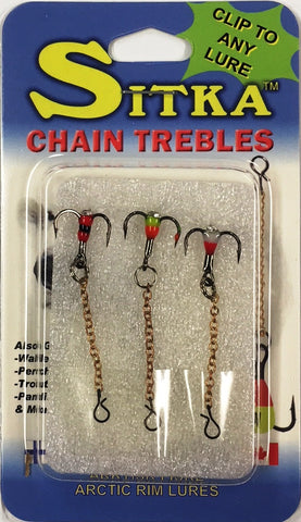 Sitka Replacement Treble Chain Hooks