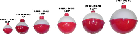BEST Red/White Round Plastic Floats - 12 Pack