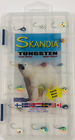 Skandia Tungsten Assorted XL 18 Pc Ice Jig Kit