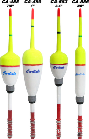 Carlisle Weighted Spring Floats - 6 Pack