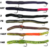 Worm Rival, Rigged Worm - 6 Pack