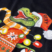 Load image into Gallery viewer, Christmas Sweater Rexy Edition (Black)