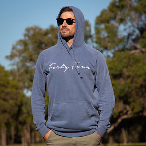 Forty Four Signature Faded Blue Hoodie