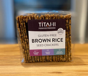 TITAHI Brown Rice Seed Crackers 200g