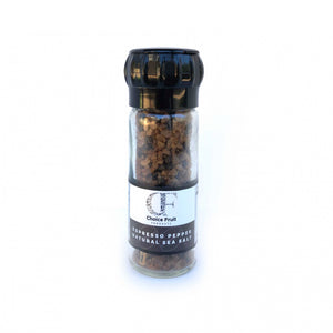 ESPRESSO PEPPER NATURAL SEA SALT – 90g – Grinder