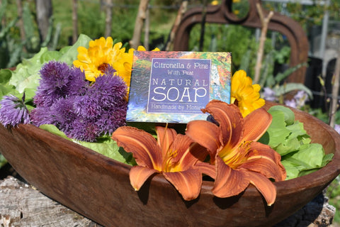 Citronella and Pine Natural Soap with Peat