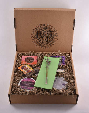 Customised and personalised gift set of natural skincare