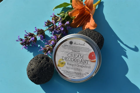 natural cream deodorant ylang ylang & grapefruit