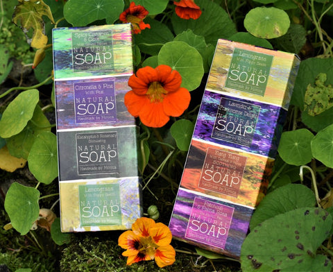 natural handmade soap in a gift box
