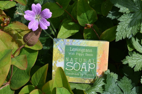 Lemongrass & Poppy Seed Handmade Natural Soap