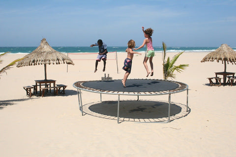 Trampoline for lymphatic system