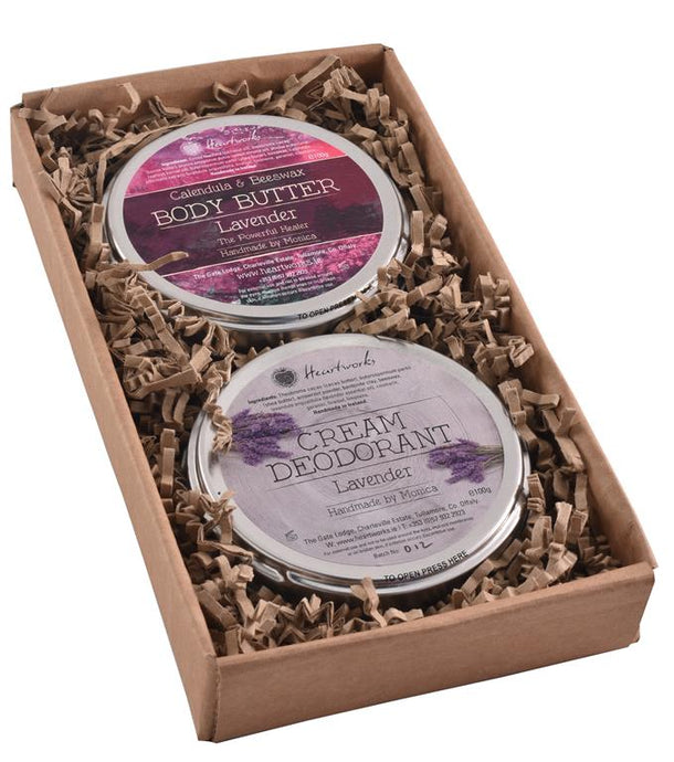 natural body butter and cream deodorant gift set