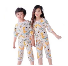 Load image into Gallery viewer, Organic Fox PJ Set (Top+Pant)