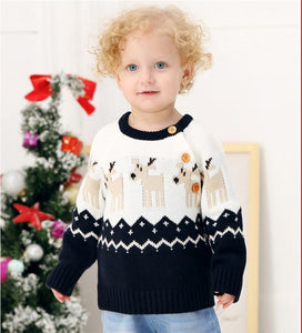 Reindeer Sweater (Blue or Red)