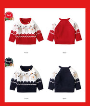 Load image into Gallery viewer, Reindeer Sweater (Blue or Red)