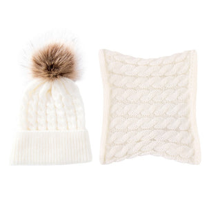 Classic Winter Hat + Scarf Set