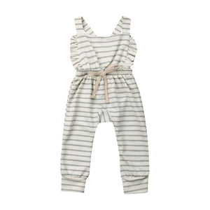 Prairie Jumpsuit (Striped Green)