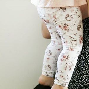 Adorable wildlife pants for babies.