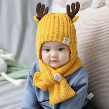 Load image into Gallery viewer, Little Deer Hat + Scarf Set (Various Colors)