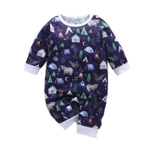 Bear Camping Nature Romper