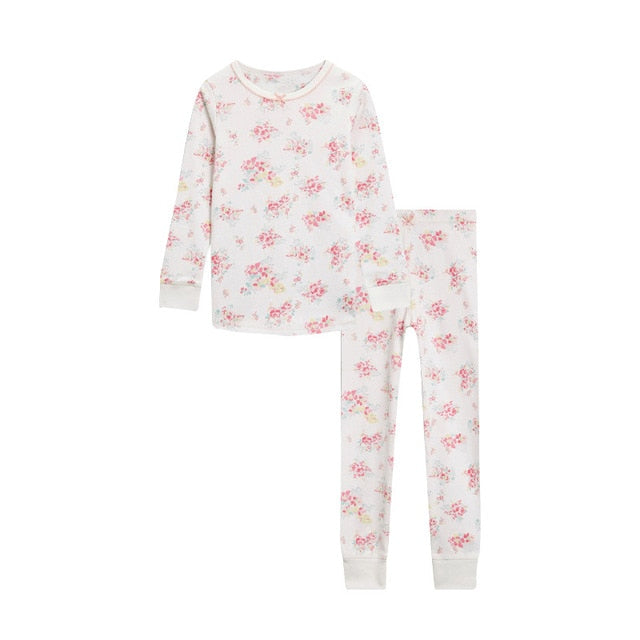 Flower Print Cotton Pajamas (2 Colors)