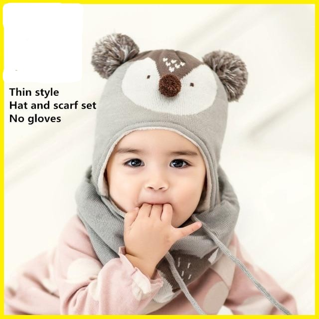 Baby Hat + Scarf + Gloves (Multiple Styles)