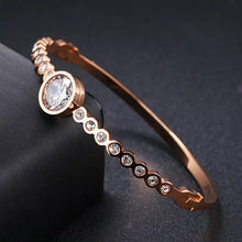 "Load image into Gallery viewer, ""Sabr - this too shall pass"" Rose Gold Bangle"