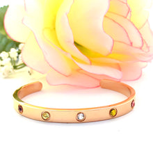"Load image into Gallery viewer, ""Have Tawakkul"" Rose Gold Plated Cuff Bangle"