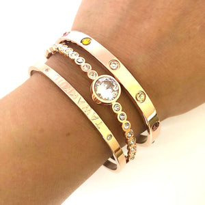 """Have Tawakkul"" Rose Gold Cuff Bangle"