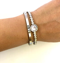 "Load image into Gallery viewer, NEW! ""Sabr - this too shall pass"" Silver Bangle"