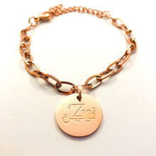 Load image into Gallery viewer, Tawakkul Charm Bracelet - 18K Rose Gold Plated