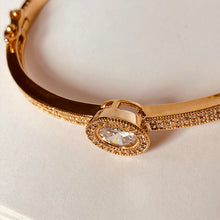 Load image into Gallery viewer, NEW! Du'a Solitaire Bangle - 18K Rose Gold