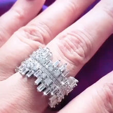 Load and play video in Gallery viewer, Icicle Ring - Cubic Zirconia (with blush pink crystal band)