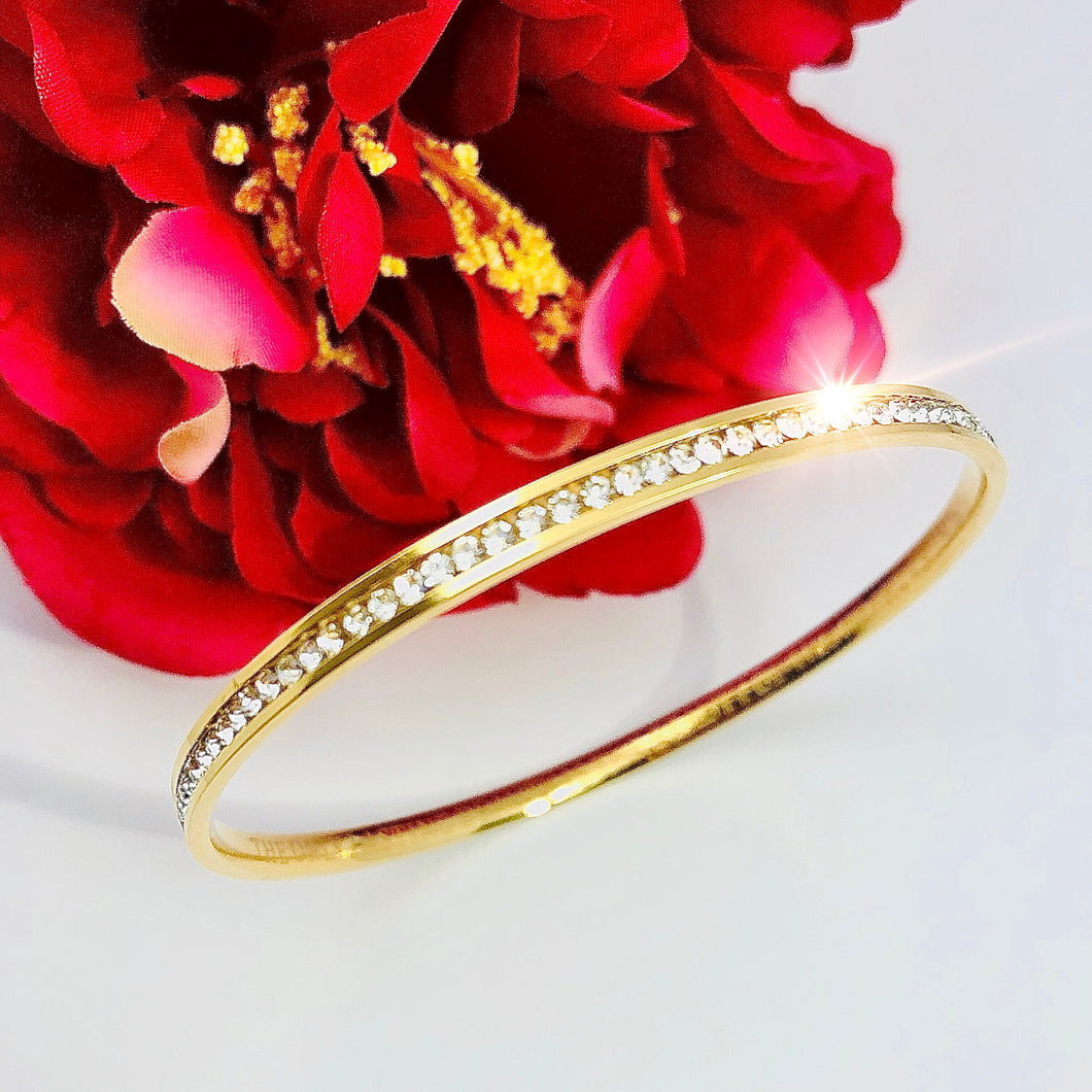 NEW! RUMInate Collection - Rumi quotes Yellow Gold bangle