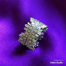 Load and play video in Gallery viewer, Icicle Ring - Cubic Zirconia (with clear crystal band)